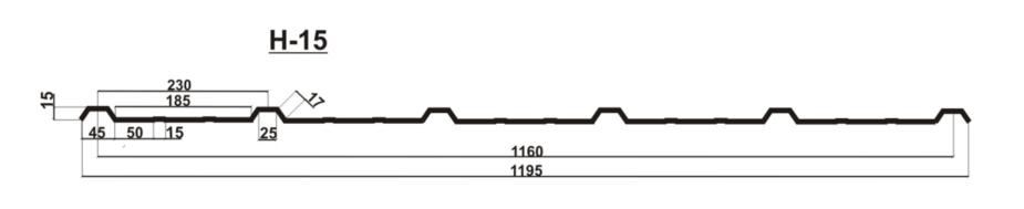 Профнастил C-8 H-15